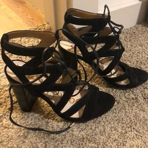 Sam Edelman stacked heel sandals in size 5